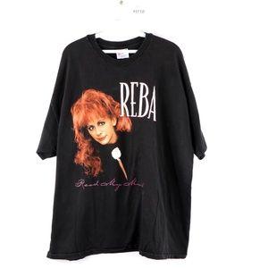Vintage 90s Reba Mcentire Read My Mind T Shirt